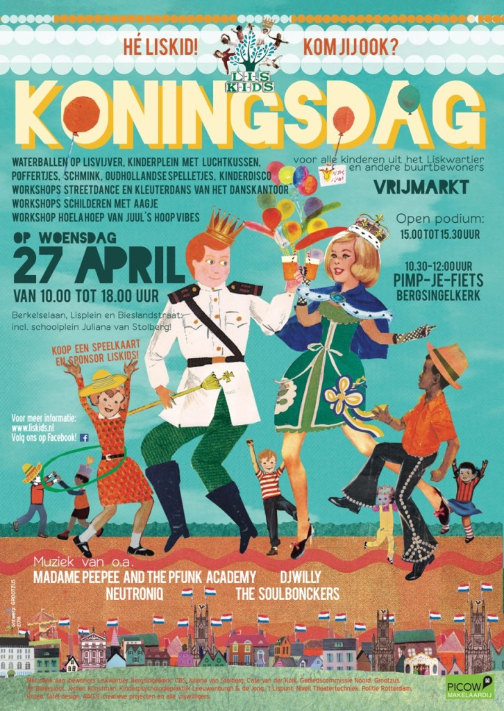 Liskids Koningsdag poster 2016