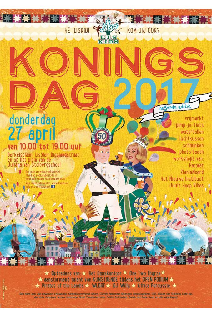 Liskids - koningsdag 2017 - poster