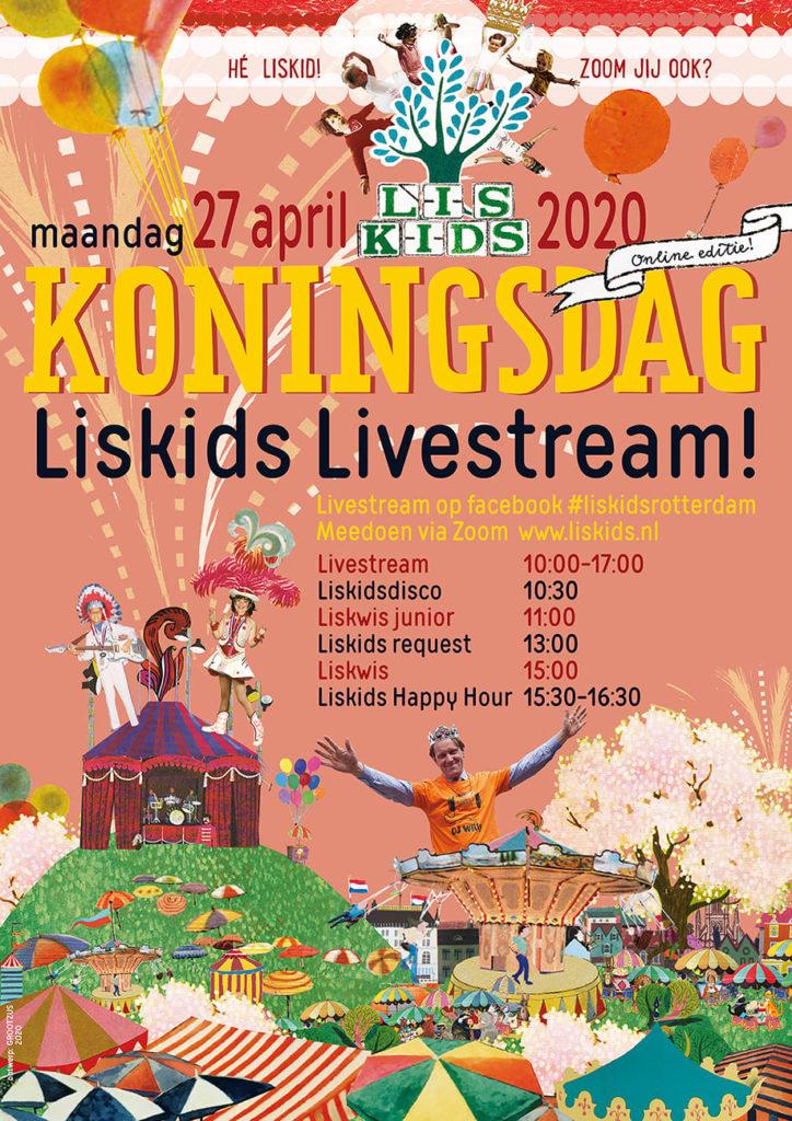 Poster Liskids Live Stream Koningsdag 2020